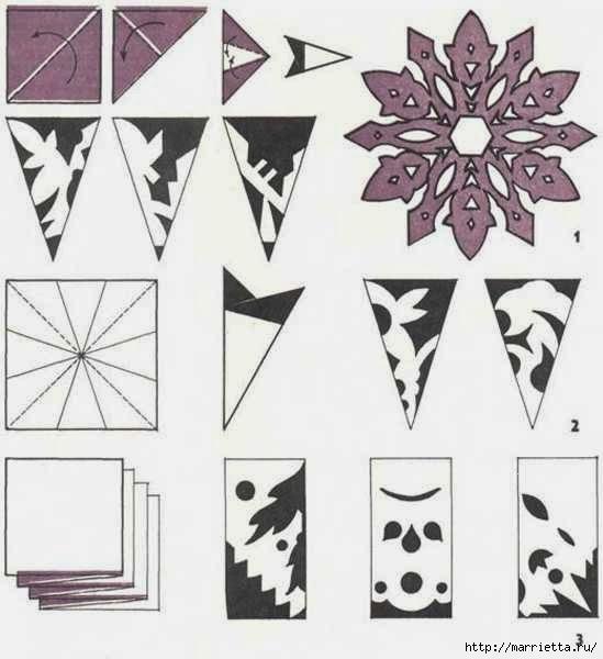 шаблоны снежинок из бумаги (28) (549x600, 106Kb)