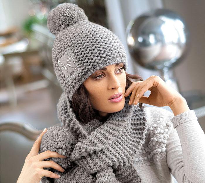 Вязанные шапки модные и красивые