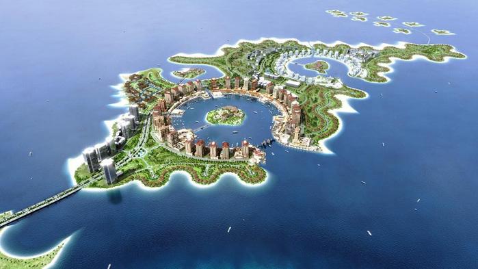 искусственный остров Жемчужина Катара 2 (700x393, 251Kb)