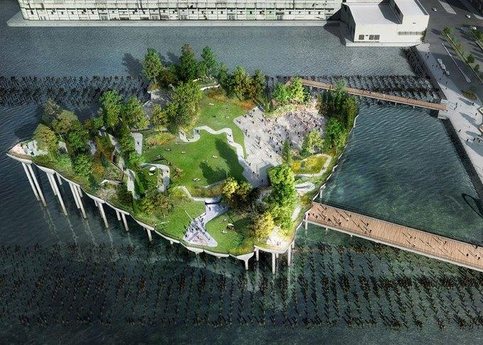 городской парк в нью-йорке пирс 55 1 (680x486, 362Kb)