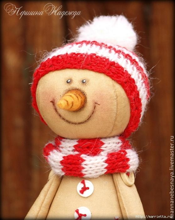 Muñeco de nieve CAFÉ.  Master Class (6) (558x700, 284KB)