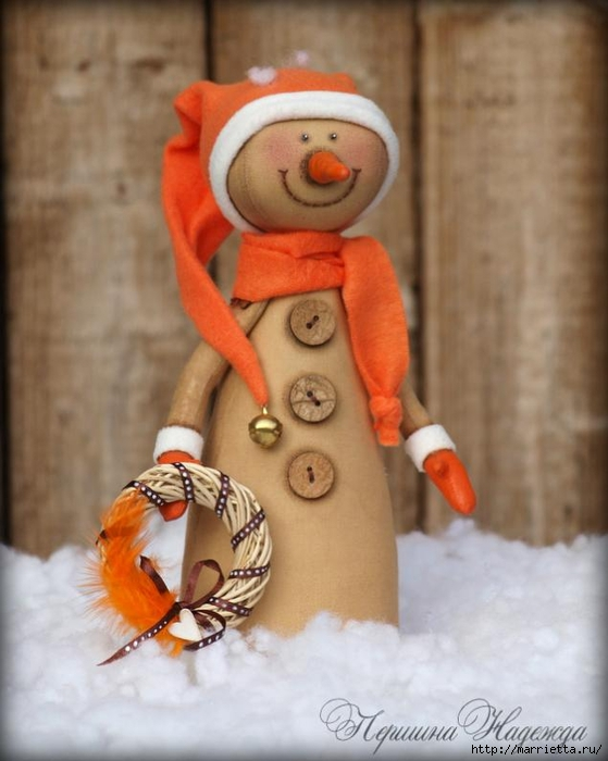Muñeco de nieve CAFÉ.  Clase magistral (15) (559x700, 209KB)