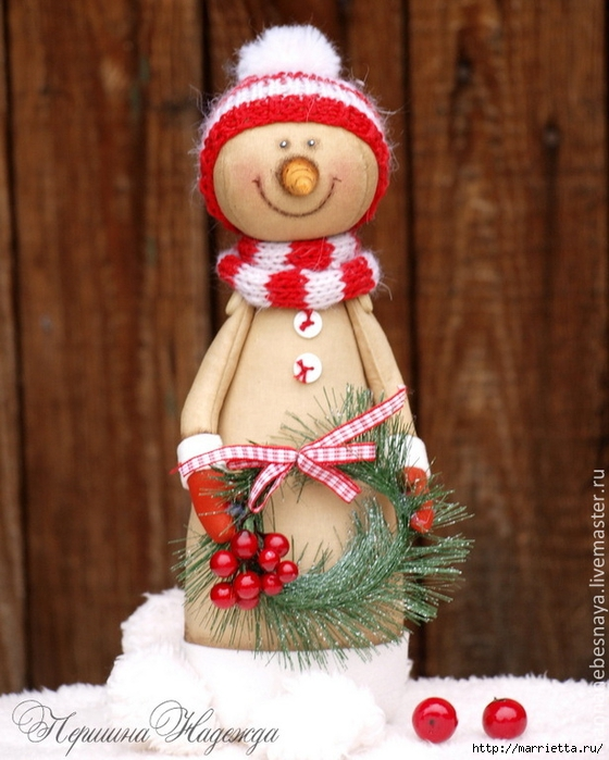 Muñeco de nieve CAFÉ.  Clase magistral (17) (560x700, 265KB)