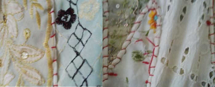 соединение ткани и вязания в одежде