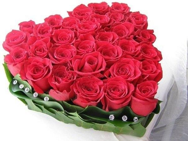 Заказать сердце из роз 3 по 2300 руб. в Санкт-Петербурге (СПб)