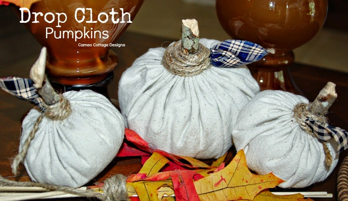 Drop Cloth Pumpkins _ 001 (700x404, 329Kb)