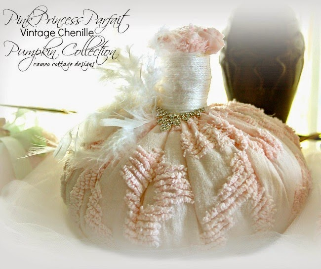 Pink Princess Parfait Vintage Chenille Pumpkin Collection _ 650 (650x544, 264Kb)