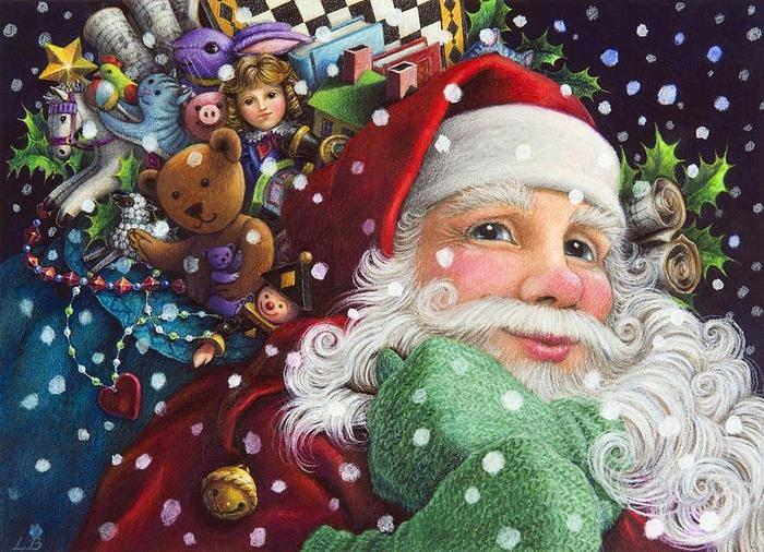 Новогодние иллюстрации от Lynn Bywaters (700x506, 484Kb)
