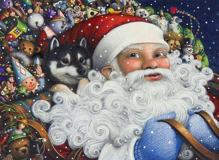 Новогодние иллюстрации от Lynn Bywaters5 (700x512, 489Kb)