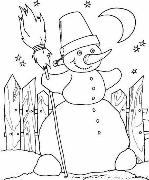 Детские раскраски на новый год скачать бесплатно