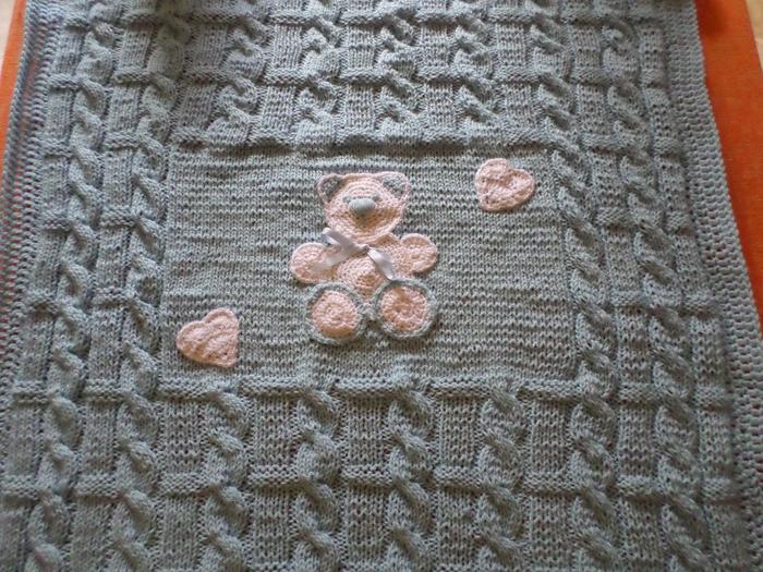 Вязание плед для малыша спицами 8