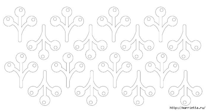 Новогодняя подвеска из бумаги. Веточка ОМЕЛЫ (2) (700x374, 104Kb)