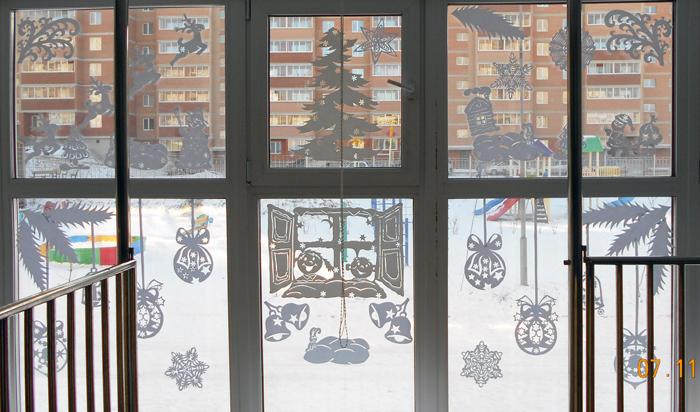 силуэты на новый год, новогодние силуэты, как украсить окна на Новй год, чем украсить окна на новый год, Хьюго Пьюго новогодние раскраски трафаретф силуэты,