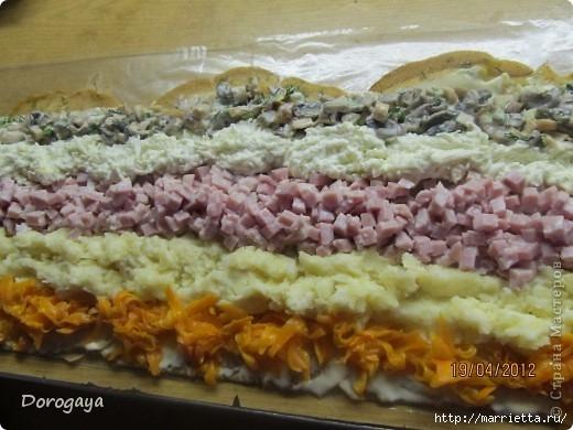 Салат пенек с опятами рецепт пошагово 103