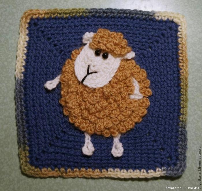 овечка вязаная, как связать овечку. вязаная овечка брошь, схема вязания овечки, как связать маленькую овечку, вязаный символ 2015 года. как связать символ 2015 года, как сделать символ 2015 года своими руками,