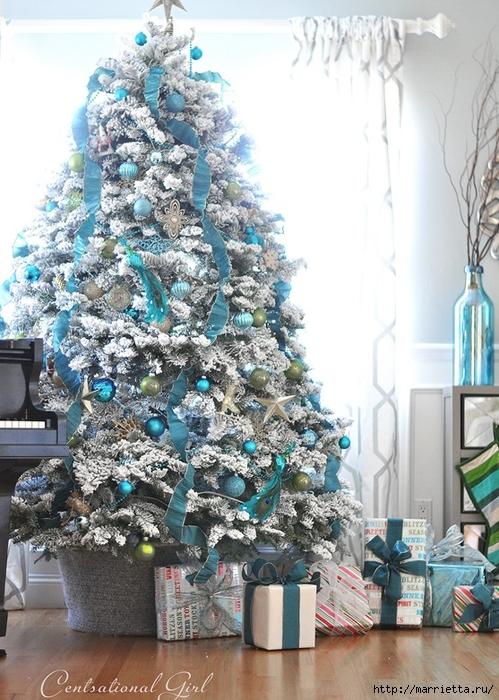 Рождественский декор в интерьере. Красивые фотографии (1) (499x700, 314Kb)