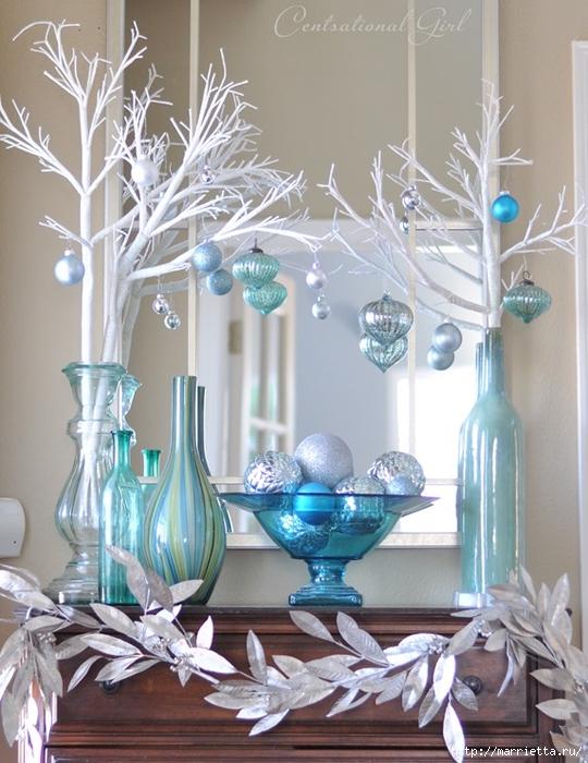 Рождественский декор в интерьере. Красивые фотографии (3) (540x700, 284Kb)