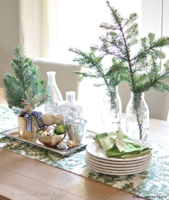 Рождественский декор в интерьере. Красивые фотографии (6) (581x688, 262Kb)