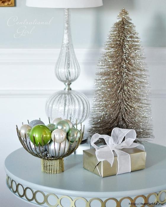 Рождественский декор в интерьере. Красивые фотографии (8) (561x700, 241Kb)