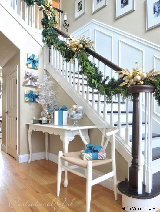 Рождественский декор в интерьере. Красивые фотографии (9) (528x700, 294Kb)