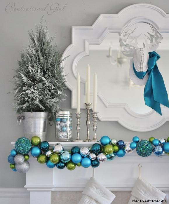 Рождественский декор в интерьере. Красивые фотографии (12) (579x699, 208Kb)