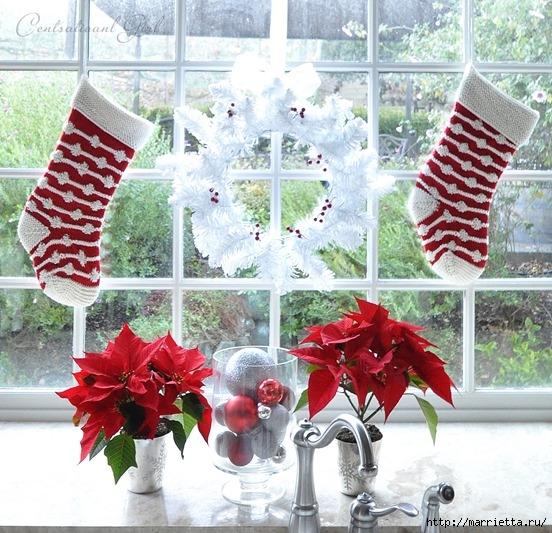 Рождественский декор в интерьере. Красивые фотографии (14) (552x533, 261Kb)