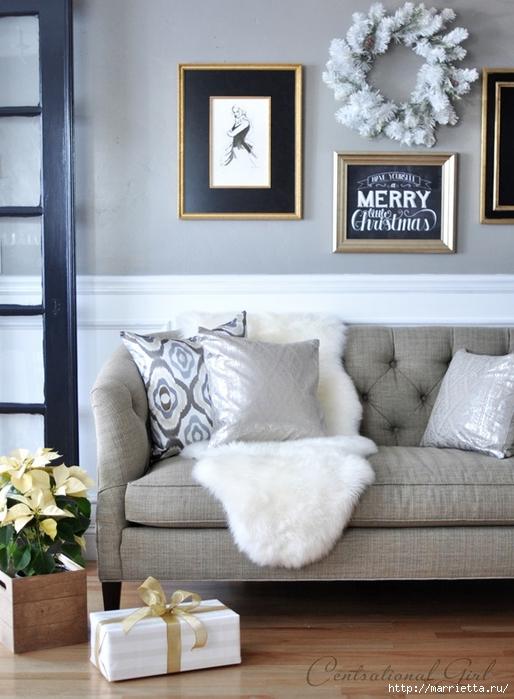 Рождественский декор в интерьере. Красивые фотографии (17) (514x700, 239Kb)