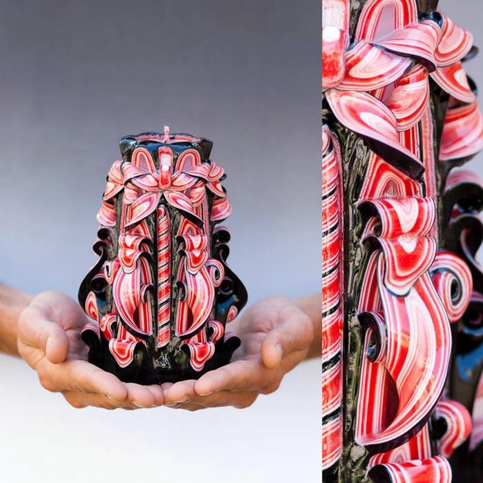 резные свечи ручной работы 4 (700x700, 268Kb)