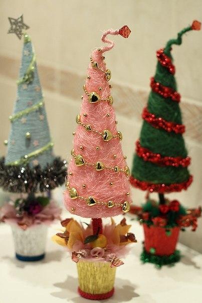 Прикольная новогодняя елочка своими руками