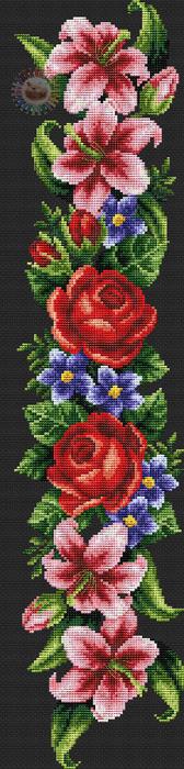 Elegant flowers (168x700, 199Kb)