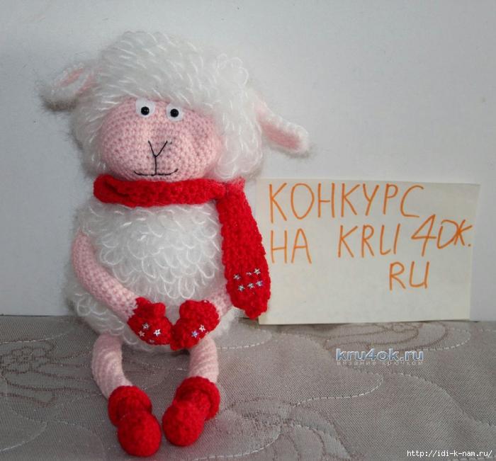 вязаная овечка, как связать овечку, схема вязания овечки, как связать символ 2015 года, как сделать символ 2015 года своими руками,