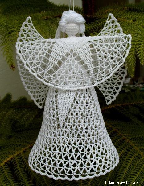 ангелы, колокольчики и снежинки крючком (1) (467x600, 256Kb)