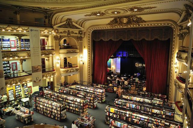 книжный магазин в здании театра Буэнос-Айреса 9 (640x425, 325Kb)
