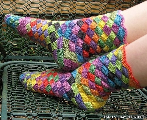 Rainbow-Patch-Knitted-Socks-Idea-DIY1 (494x404, 251Kb)