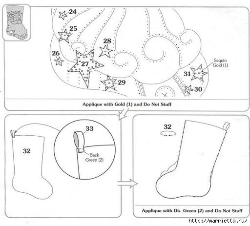 Шаблоны для пошива рождественских сапожков (14) (512x463, 102Kb)