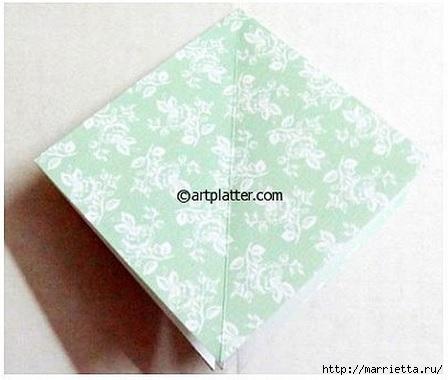 Елочка из бумаги в технике оригами (4) (448x380, 85Kb)
