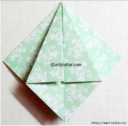 Елочка из бумаги в технике оригами (6) (442x437, 97Kb)