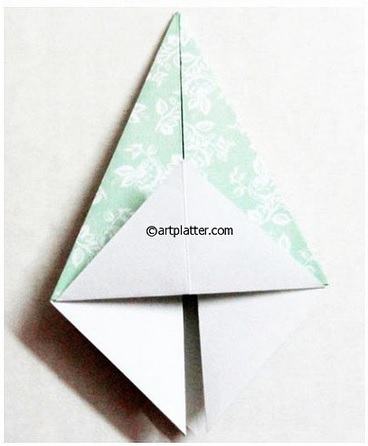 Елочка из бумаги в технике оригами (8) (368x446, 86Kb)