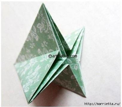Елочка из бумаги в технике оригами (10) (408x359, 69Kb)