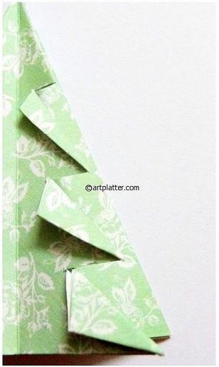 Елочка из бумаги в технике оригами (12) (308x515, 110Kb)