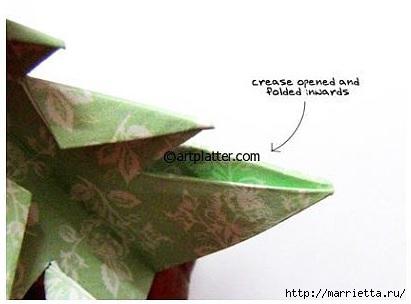 Елочка из бумаги в технике оригами (14) (411x304, 54Kb)