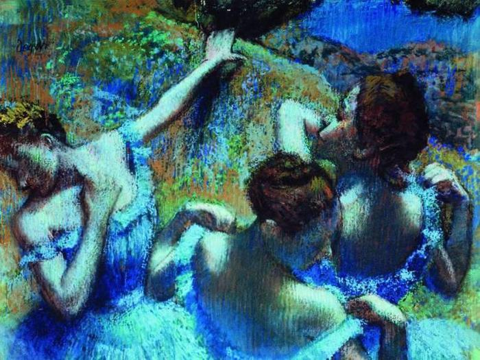 Голубые тансовщицы Дега (700x525, 84Kb)