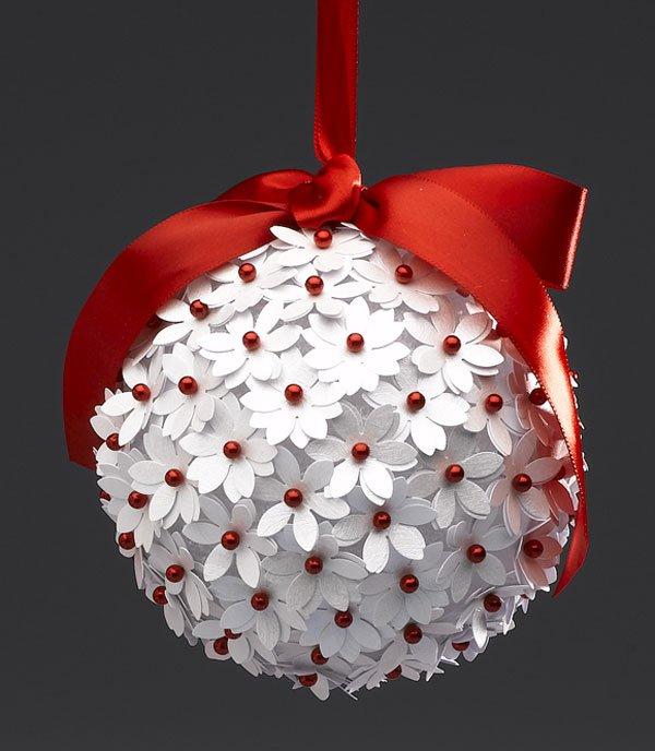 Как сделать новогодний шарик своими руками