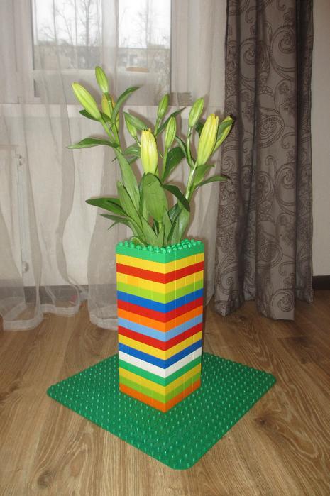 Как сделать вазу из лего