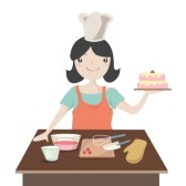 11187414-woman-preparing-christmas-cake-cartoon-illustration (168x168, 6Kb)