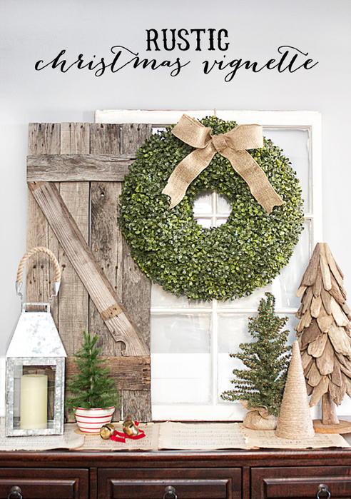 Rustic-Christmas-Vignette.-Boxwood-Wreath-Live-Laugh-Rowe (492x700, 481Kb)
