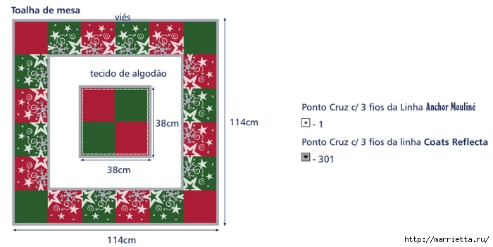 Схема вышивки новогодней скатерти (3) (700x351, 109Kb)