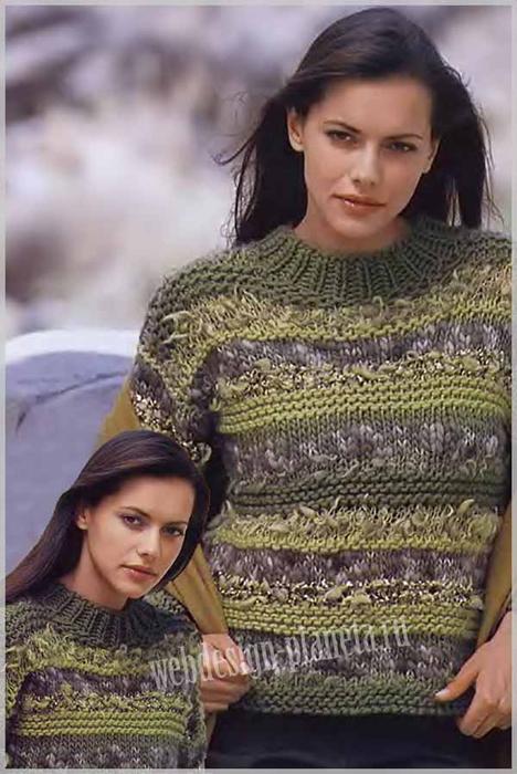 polosatyj-pulover-spitsami-v-zelenyh-tonah-foto (468x700, 286Kb)