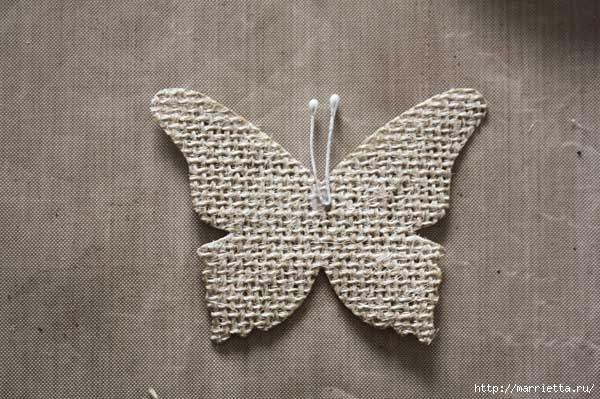 Бабочки из мешковины (21) (600x399, 170Kb)