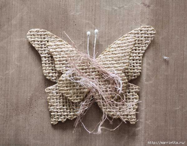 Бабочки из мешковины (23) (600x470, 209Kb)